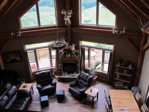 Cabin Ohio Best Whitetail Deer Hunting Handicap Friendly Hunting Lodge